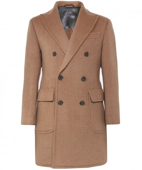 Hackett Cashmere Blend Double Breasted Coat