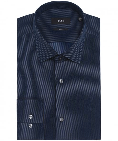 BOSS Slim Fit Patterned Jenno Shirt
