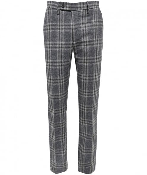 Hackett Wool Flannel Check Trousers