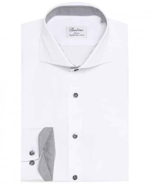 Stenstroms Slimline Houndstooth Trim Shirt
