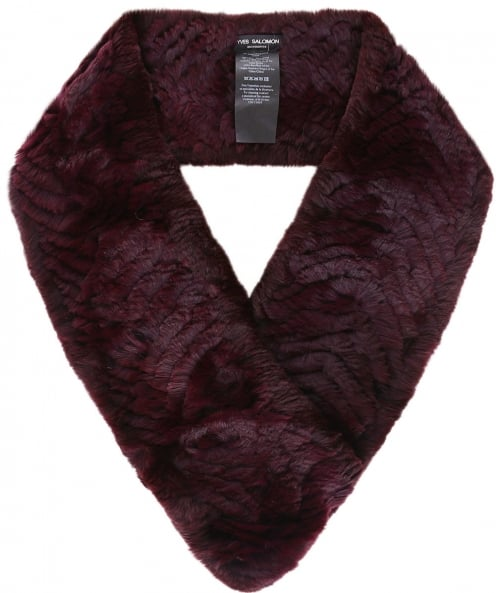 Yves Salomon Knitted Fur Loop Scarf