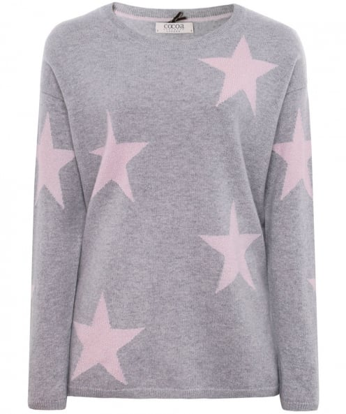 Cocoa Cashmere Shimmering Star Cashmere Jumper