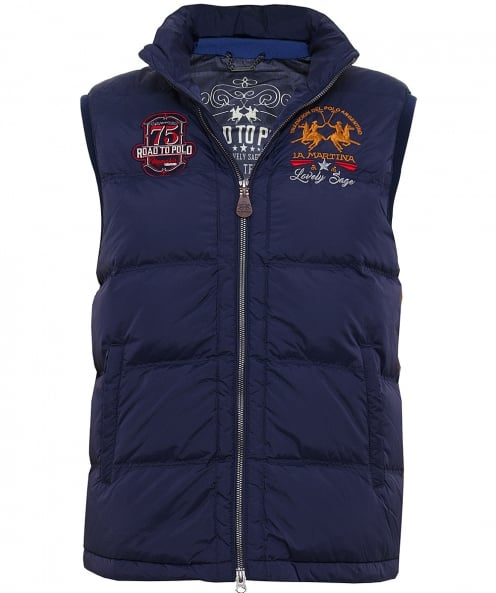 La Martina Quilted Down Gilet