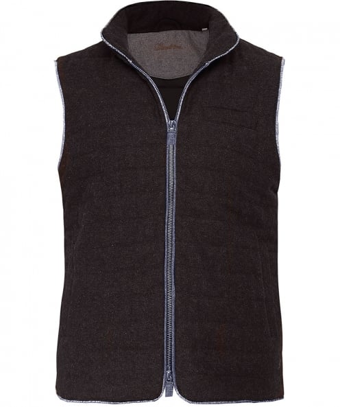 Stenstroms Quilted Donegal Tweed Gilet