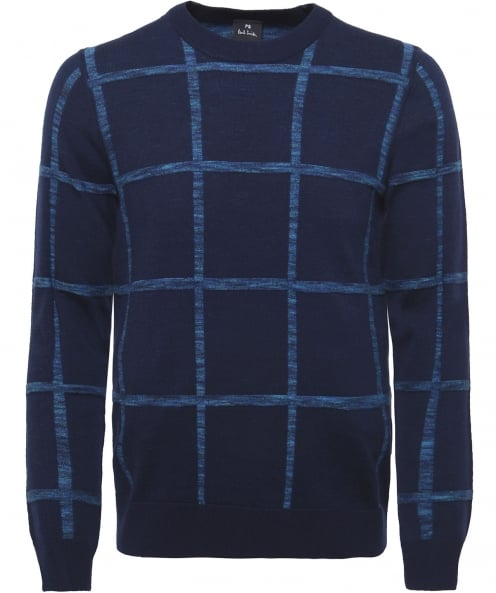 PS by Paul Smith Wool Blend Textured Check Jumper