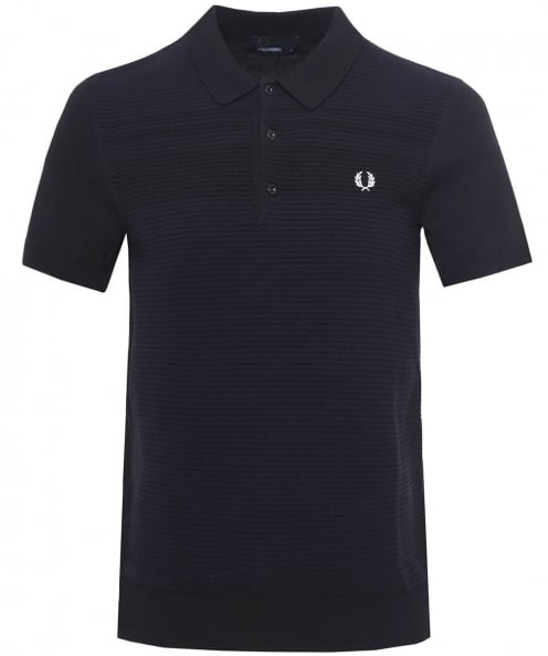 Fred Perry Waffle Knitted Polo Shirt