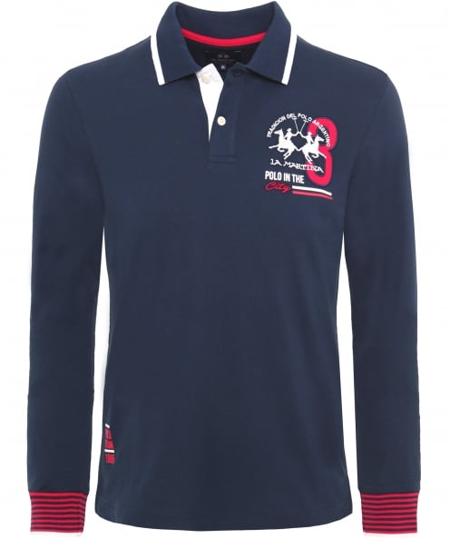 La Martina Long Sleeve Elric Polo Shirt