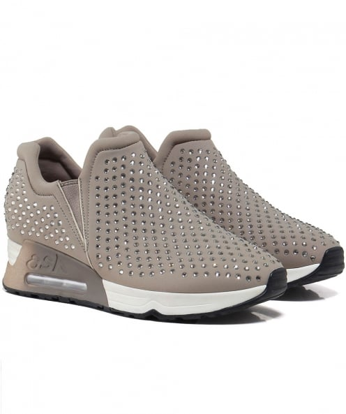 Ash Embellished Neoprene Lifting Trainers