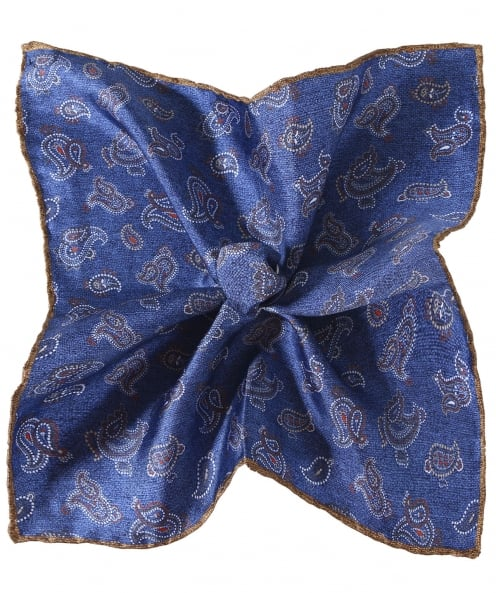 Ascot Accessories Paisley Silk Pocket Square