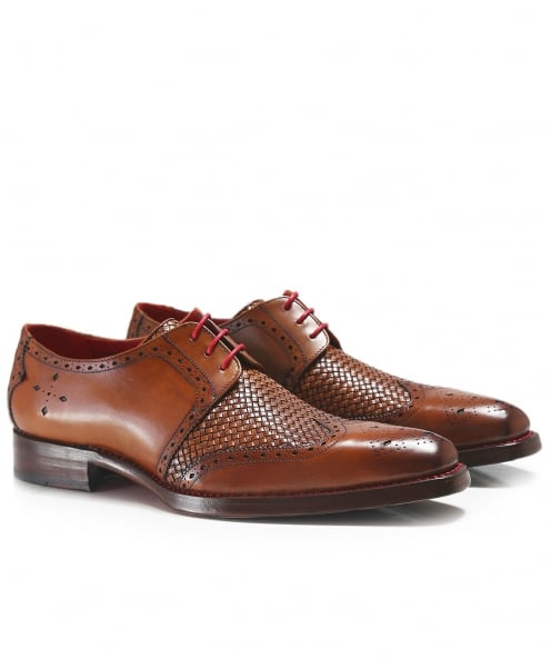 Jeffery-West Leather Wing-Tip Harbour Dexter Shoes