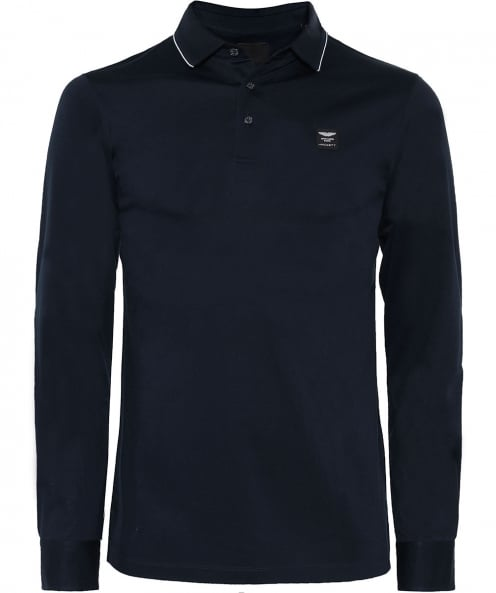 Hackett Long Sleeve AMR Polo Shirt