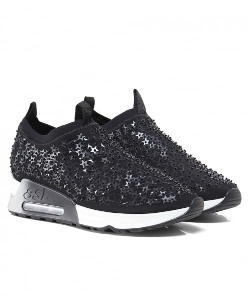 Ash Embellished Lighting Star Trainers