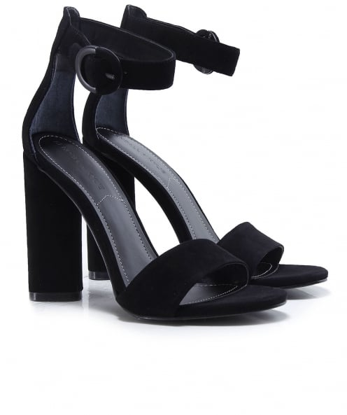 Kendall and Kylie Shoes Suede Giselle Ankle Strap Sandals