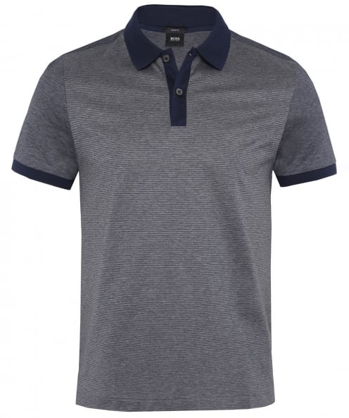 BOSS Striped Phillipson 21 Polo Shirt