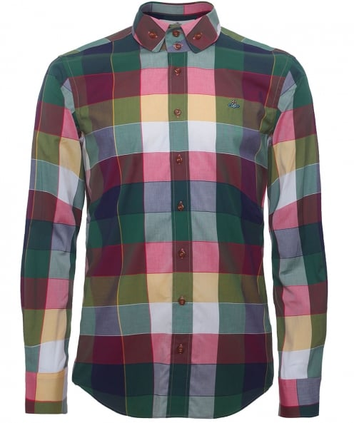 Vivienne Westwood Man Two Button Gingham Krall Shirt