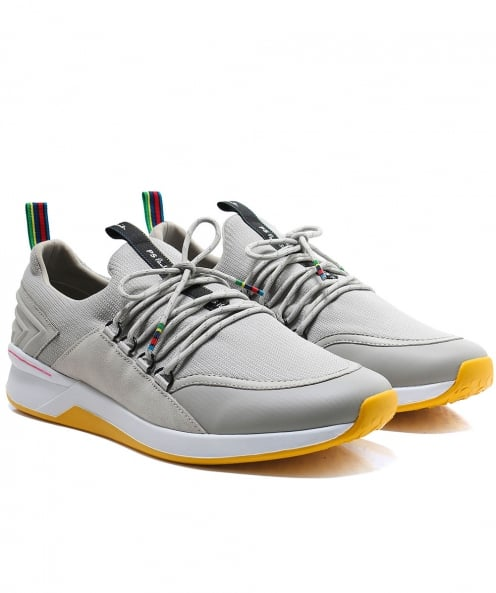 PS by Paul Smith Leather & Knitted Jersey Trainers