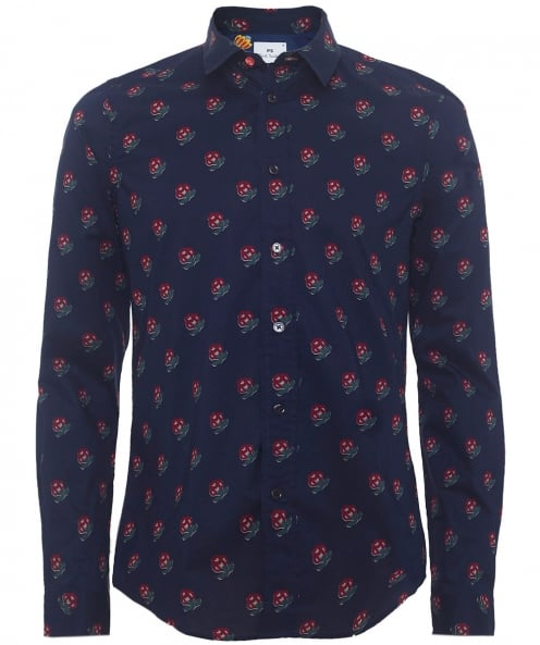 PS by Paul Smith Slim Fit Floral Wood Shirt