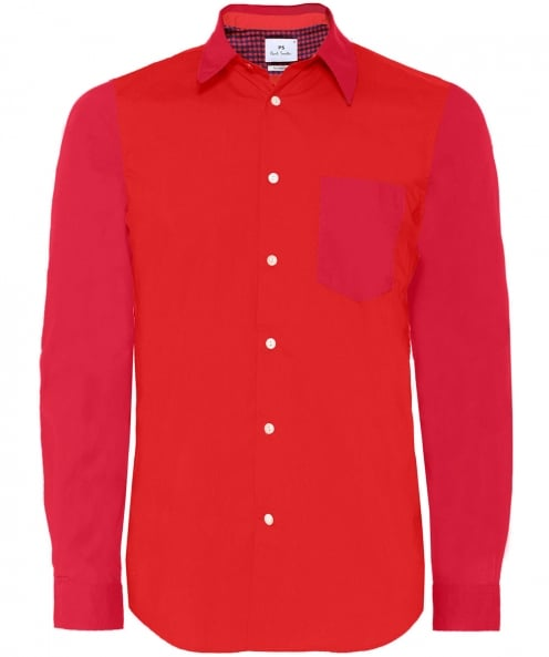 PS by Paul Smith Tailored Fit Colourblock Shirt