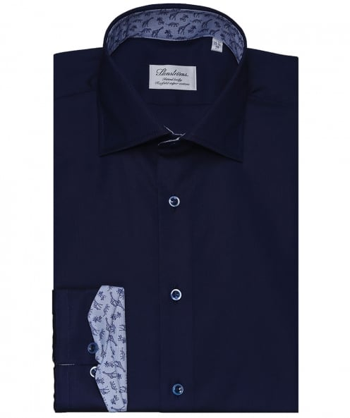 Stenstroms Fitted Body Jungle Trim Shirt