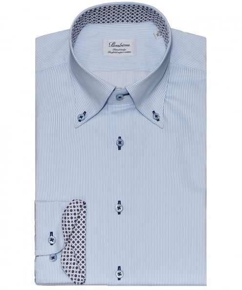 Stenstroms Fitted Body Pinstripe Shirt