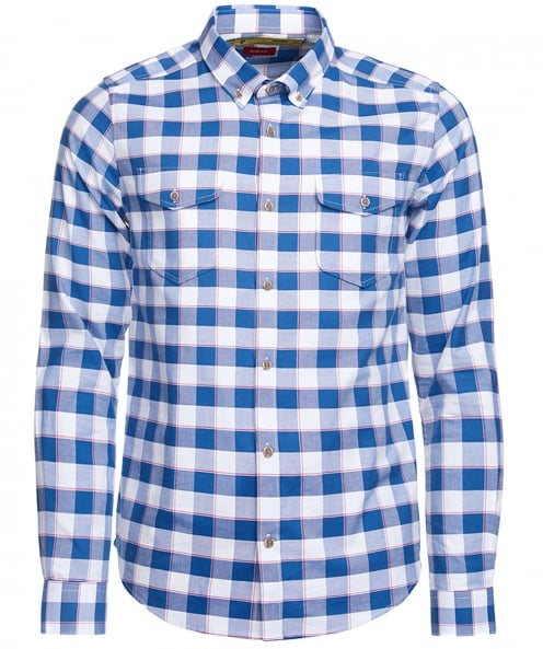 Barbour International Slim Fit Check Batch Shirt