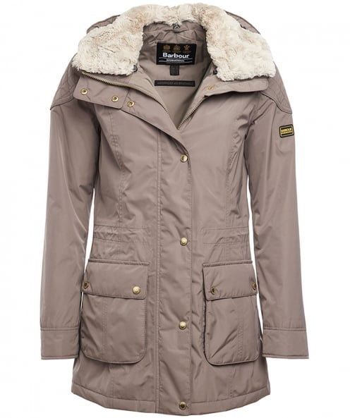 Barbour International Faux Fur Trim Garrison Jacket