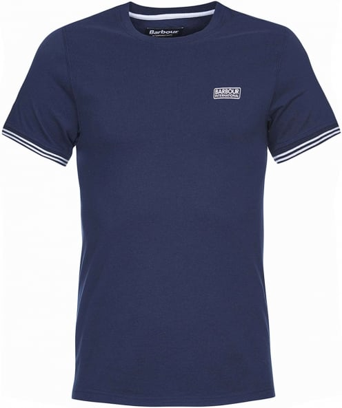 Barbour International Crew Neck Cable Tipped T-Shirt