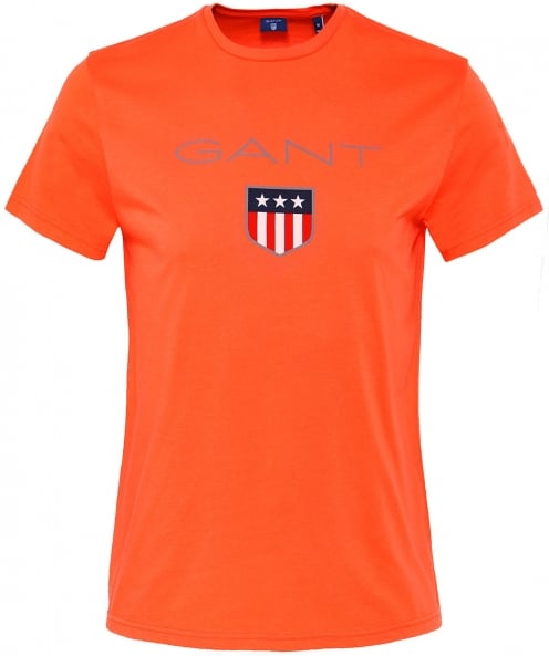 Gant Crew Neck Shield Logo T-Shirt