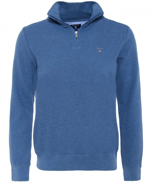 Gant Pique Cotton Half-Zip Jumper