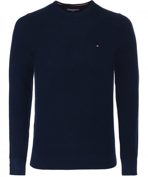 Tommy Hilfiger Cotton Rice Corn Textured Jumper