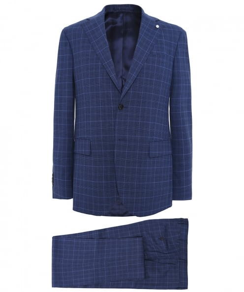 LBM 1911 Wool Prince of Wales Check Suit