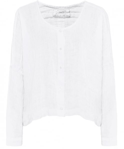 Grizas Cropped Linen Top