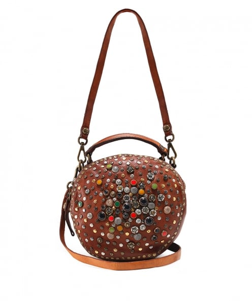 Campomaggi Leather Embellished Bowling Bag