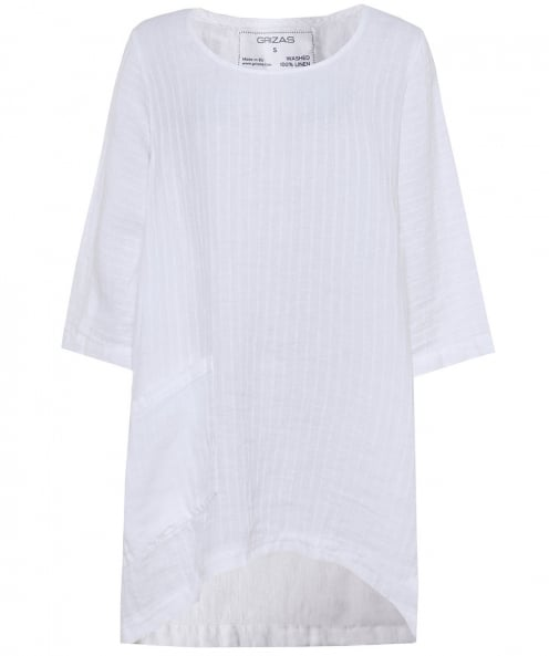 Grizas Linen Textured Drape Top