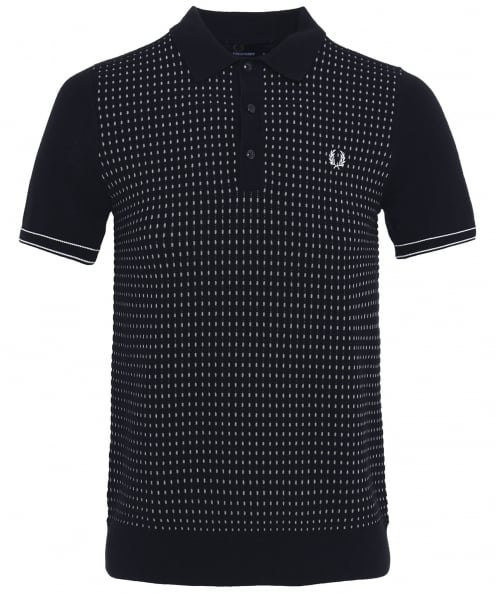Fred Perry Jacquard Knitted Cotton Polo Shirt