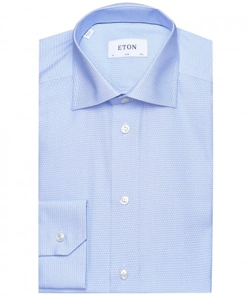 Eton Slim Fit Micro Heart Shirt