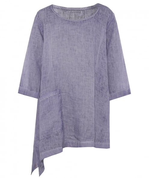 Grizas Washed Linen Asymmetric Tunic