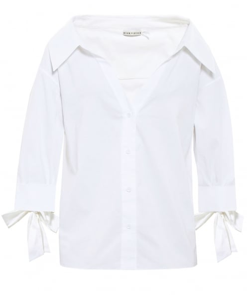 Alice and Olivia Judith French Cuff Shirt