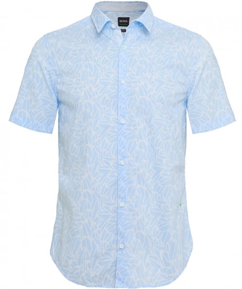 BOSS Slim Fit Short Sleeve Brodi_S Floral Shirt