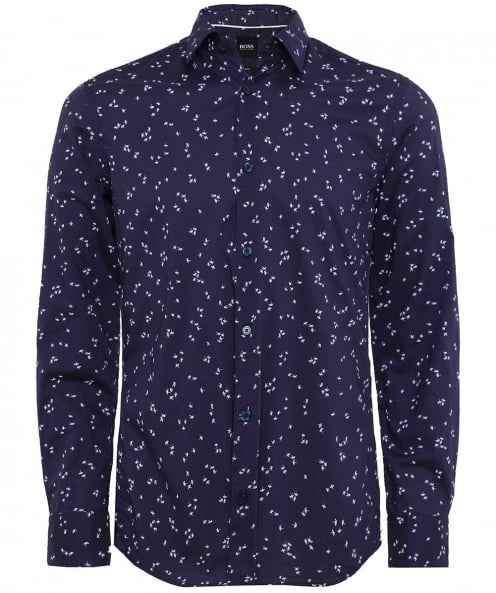 BOSS Slim Fit Floral Reid-F Shirt