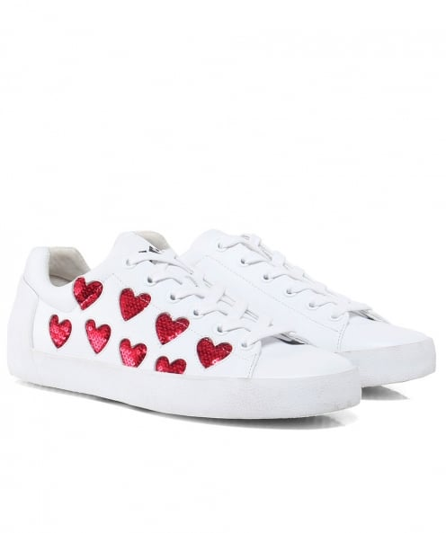 Ash Leather Nikita Sequin Heart Trainers