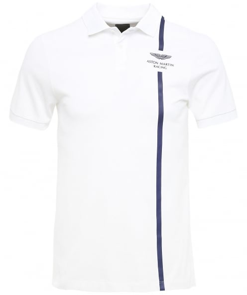 Hackett Stretch Cotton Vertical Stripe Polo Shirt