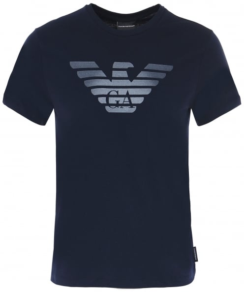 Armani Jersey Cotton Crew Neck Logo T-Shirt