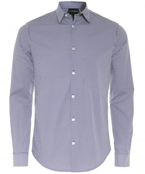 Armani Slim Fit Geometric Print Shirt