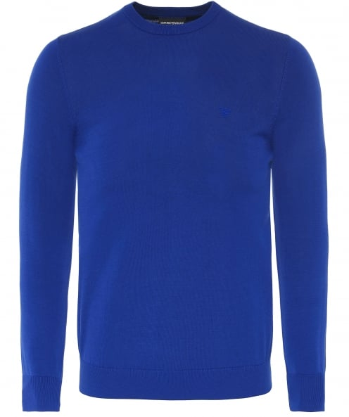 Armani Knitted Cotton Crew Neck Jumper