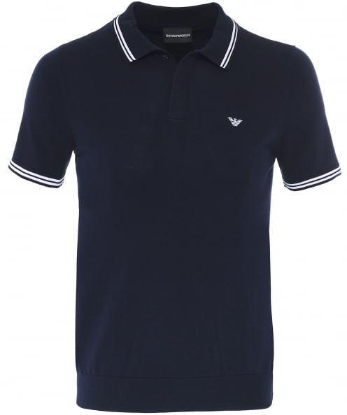 Armani Jersey Cotton Twin Tipped Polo Shirt