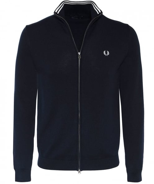 Fred Perry Cotton Zip-Through Cardigan