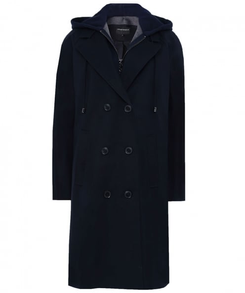 Armani Removable Hooded Trench Coat