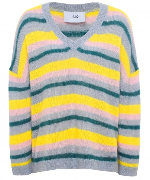 in.no Mohair Blend Striped Nicole Jumper