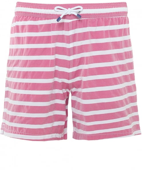 Hackett Stretch Fit Barre Stripe Volley Swim Shorts